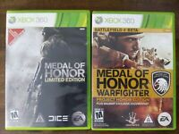 USED - Medal Of Honor + Warfighter - Special Edition Xbox 360 - Lot of 2 Bundle