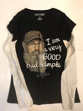 Duck Dynasty Redneck Approved Women's Long Sleeve Pullover Uncle Sy Shirt Size L