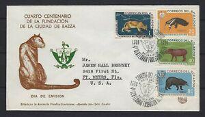 ECUADOR REG'D FDC 1959: 4TH CENTENARY OF THE FOUNDATION OF THE CITY OF BAEZA