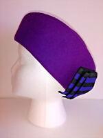 MICHAEL HOWARD Miss Bierner Hat Vintage Womens Pillbox Purple With Bow