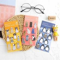2pcs Cute Animals Memo Pads Kawaii Sticky Notes School Writing Pad Message Card