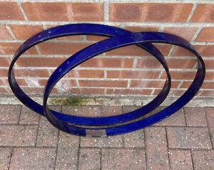 "Premier 22"" Blue Wooden Bass Drum Hoops #617"