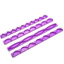 4pcs Cake Fondant Edge Frill Ribbon Embosser Cutter DIY Decor Fondant Mould au