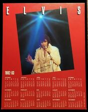 Elvis Presley 1982-1983 Rca Records Released Calendar
