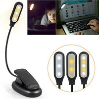 LuminoLite Rechargeable 3000K Warm 6 LED Book Lights, Easy Clip on Reading Light