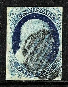 [DZ]    US #7 ~ USED 1847 Franklin Blue Type IV - Free Shipping