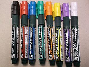 Pentel Wet Erase Chalk Marker Pen Metal Glass Plastic Wood Stone Chisel Tip
