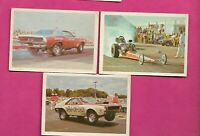 3 X RARE 1971 FLEER AMERICAN HOT ROD ASSOCIATION  CARD  (INV# J0529)