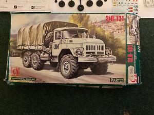 Soviet Zil-131 Army Truck 1:72 UN Military Vehicle Model Kit