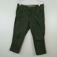 Nine West Cropped Legging Size 10 Green Pants