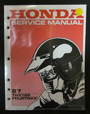 HONDA 87 TRX125 FOURTRAX SERVICE MANUAL 61HC300
