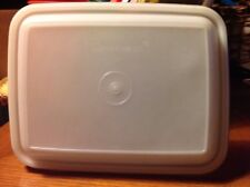 Vintage Tupperware Sheer Rectangular Seal LID #1255-3~ Ice Cream Keeper Freezer