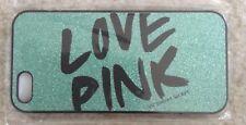IPhone 5 case by Victoria's Secret LOVE PINK Sparkle Glitter Green super cute