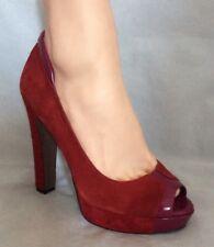 BCBGeneration BCBG Size 8.5 Red Suede Platform Heels Shoes