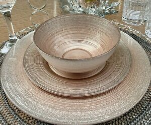 Turkish Handmade Rose Gold Sparkly Dinner Plates Make a Gorgeous Table Setting💕