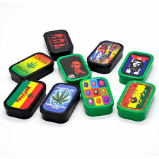 1 X Plastic Small Size Cigarette Tobacco Storage Case  Reggae Box Tobacco Tin