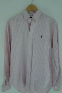 Men's Polo Ralph Lauren Classic Fit Dress Shirt Sz Medium