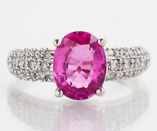 Store Liquidation All Items 50% Or More Off Gold, Diamond & Pink Tourmaline Ring