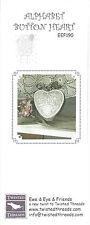 FICHE POINT DE CROIX ABC ALPHABET BUTTON HEART EWE & EWE & FRIENDS