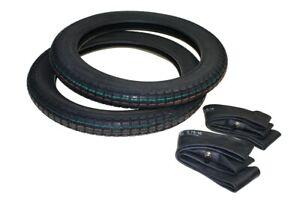 2x Reifen und 2x Schlauch 2.75-16 2 3/4x16 Reifensatz für Simson Moped Mofa neu
