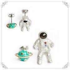 E778 Betsey Johnson Green Jupiter Saturn Make a Wish Spaceman Moon Earrings UK