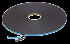"""Black 1/16"""" x 3/8"""" Poly Liner Double Sided Foam Glazing Tape"""