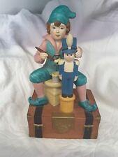 "Enesco Santa's Elf Musical Box Figurine ""Toy Soldier Symphony"" Rare"