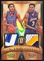 2015-16 Gold Standard Josh Huestis Anthony Brown RC #'d 8/25 Dual Patch Stanford