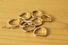 d ring d-rings purse ring Webbing Strapping metal gold 12mm 1/2 inch 18pcs H19