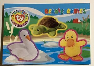 Ty Beanie Babies Swan Duck Turtle Retired Collectors card Stickers