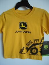 Infant Boys John Deere Yellow Short Sleeve Tshirt Dig It! 12 Months New w Tags
