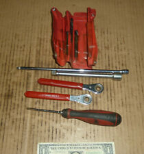 Vintage MAC Tools Old USA Mechanic Lot,Screwdriver,2 Ext.2 Wrench,4 Bits in case