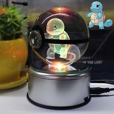 3D Pokemon  Boule de Cristal Squirtle  Lumière Veilleuse Lampes de Table Cadeau
