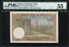 Morocco 1949-1958, 500 Francs, P46, PMG 55 AUNC