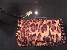 Dolce y Gabbana Diseñador Bolso De Mano Cuero Estampado De Leopardo Correa De Muñeca ahora £ 199