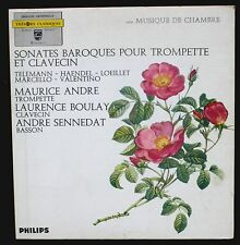 Maurice André Laurence Boulay André Sennedat Sonates baroques LP EX, CV NM -