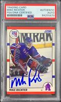 Mike Richter autographed signed rookie card New York Rangers PSA Encapsulated