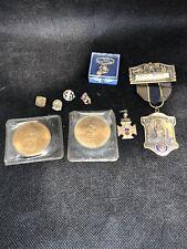 New listing Dj32 Antique Fraternal Lot Masonic Watch Fob Etc