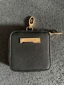 RIVER ISLAND BLACK LEATHER LOOK COIN PURSE