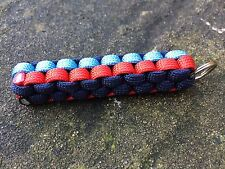 Bmw m sport couleurs paracord keyring keychain