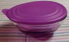 Tupperware Eleganzia Bowl With Lid-600ml-purple acrylic-new -free shipping