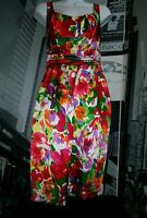 GORGEOUS, COLORFUL DAVID MEISTER SILK, FLORAL PRINT LINED DRESS, SIZE 6