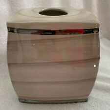 Nicole Miller Tissue Box Holder Cover Oasis Boutique Silver Trim Bed Bath Beyond