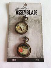 Tim Holtz-Assemblage-Collage Dômes-détaillé retour comme une montre de poche