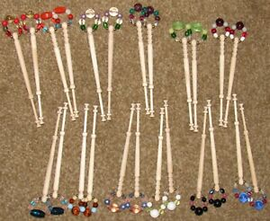 12 pairs Lace Bobbins with Spangles (24 total Bobins)