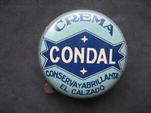 Condal. Tin Cream For The Calzado. Icing, Zapatos. Shoe Polish