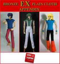 SHUN EX, IKKI EX, HYOGA EX PLAIN CLOTH APPENDIX, SAINT SEIYA MYTH CLOTH ropa