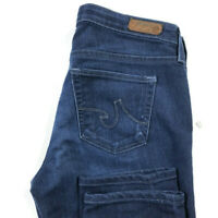 AG Adriano Goldschmied Womens 29 The Stilt Cigarette Leg Dark Wash Blue Jeans