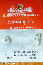 JL Innovative Design #634 Custom Soda Machine Set -- 7up 1 Upright, 1 Chest Styl