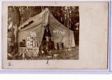 Real Photo Postcard RPPC - Scouts Camping Saxon Oats Van Camp Pork & Beans
